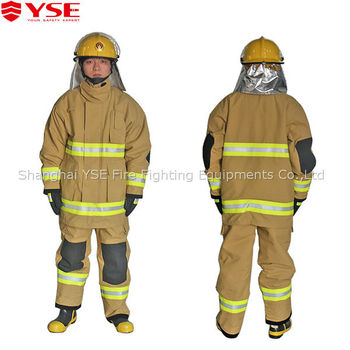 5f8a6456d9bb Fireman Safety Firefighter Fire Protective Fireproof Suit - Buy Fireproof  ...