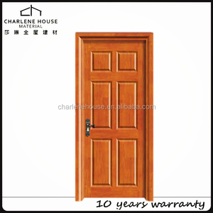 stock 6 panel interior MDF door waterproof for beachside villa