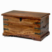 Wooden trunks for storage