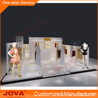 Unique style stainless steel display racks for garments with LED light