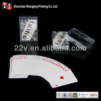 100% plastic playing cards custom printed poker
