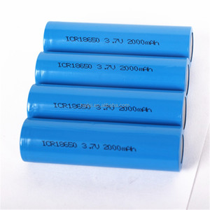 Rechargeable 3.7v cylinder lithium ion 2000mah 2200mah 2600mah 18650 Batteries with CE UN38.3 MSDS IEC62133 BIS certification