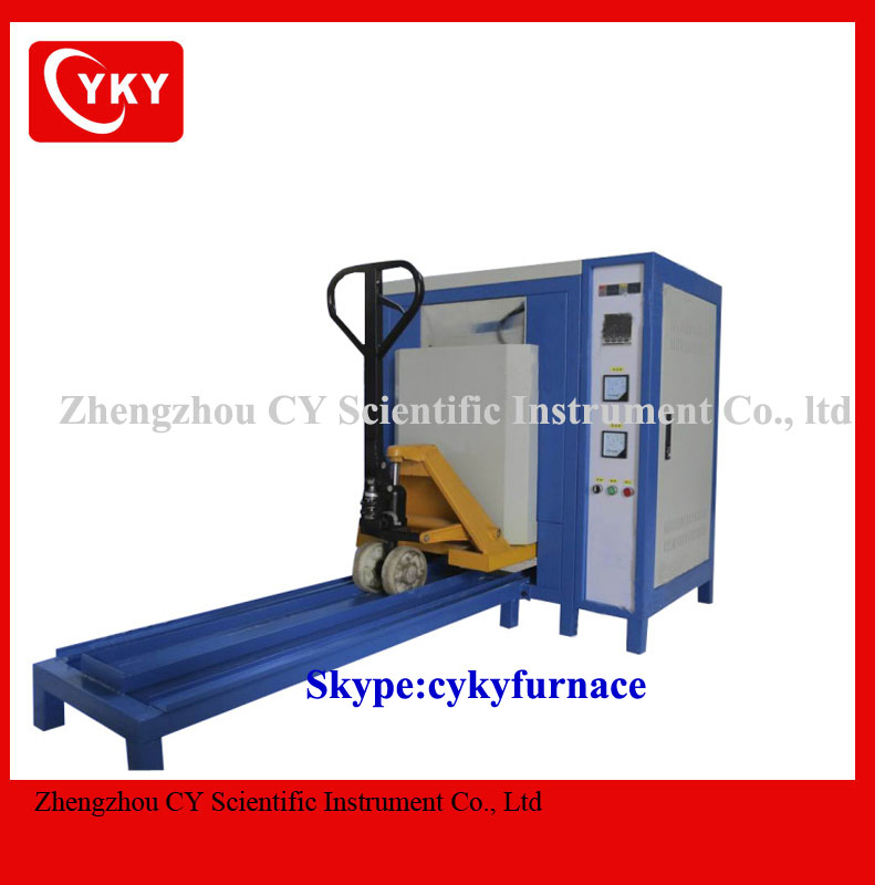 1200C small electric pottery kiln/small electric ceramic furnace with trolly