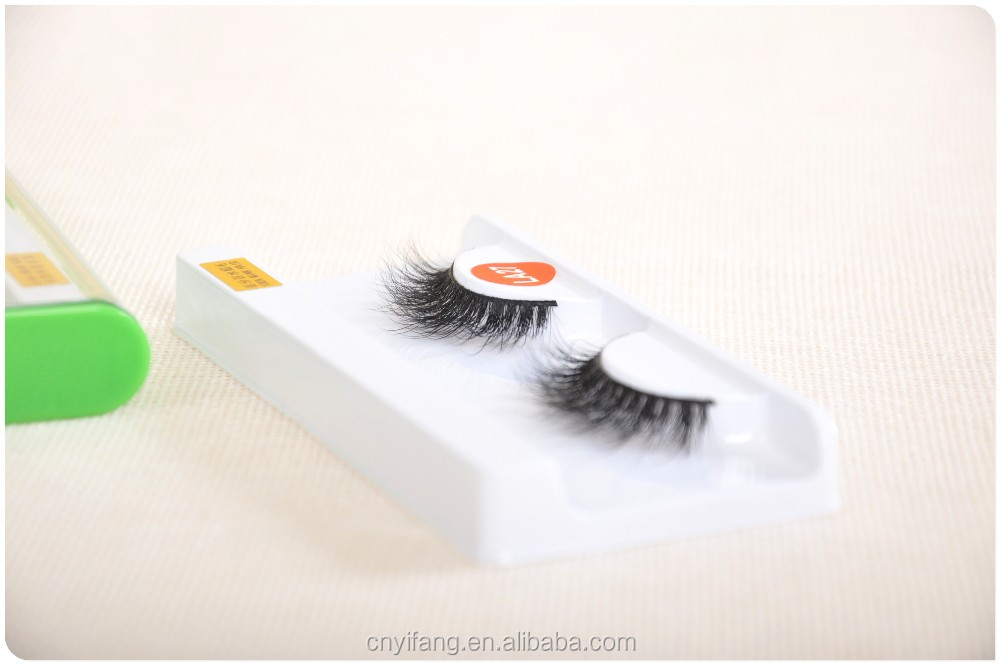 Top Quality Private Label Natural Looking 3D Real Mink Fur Eye Lashes LA27 style