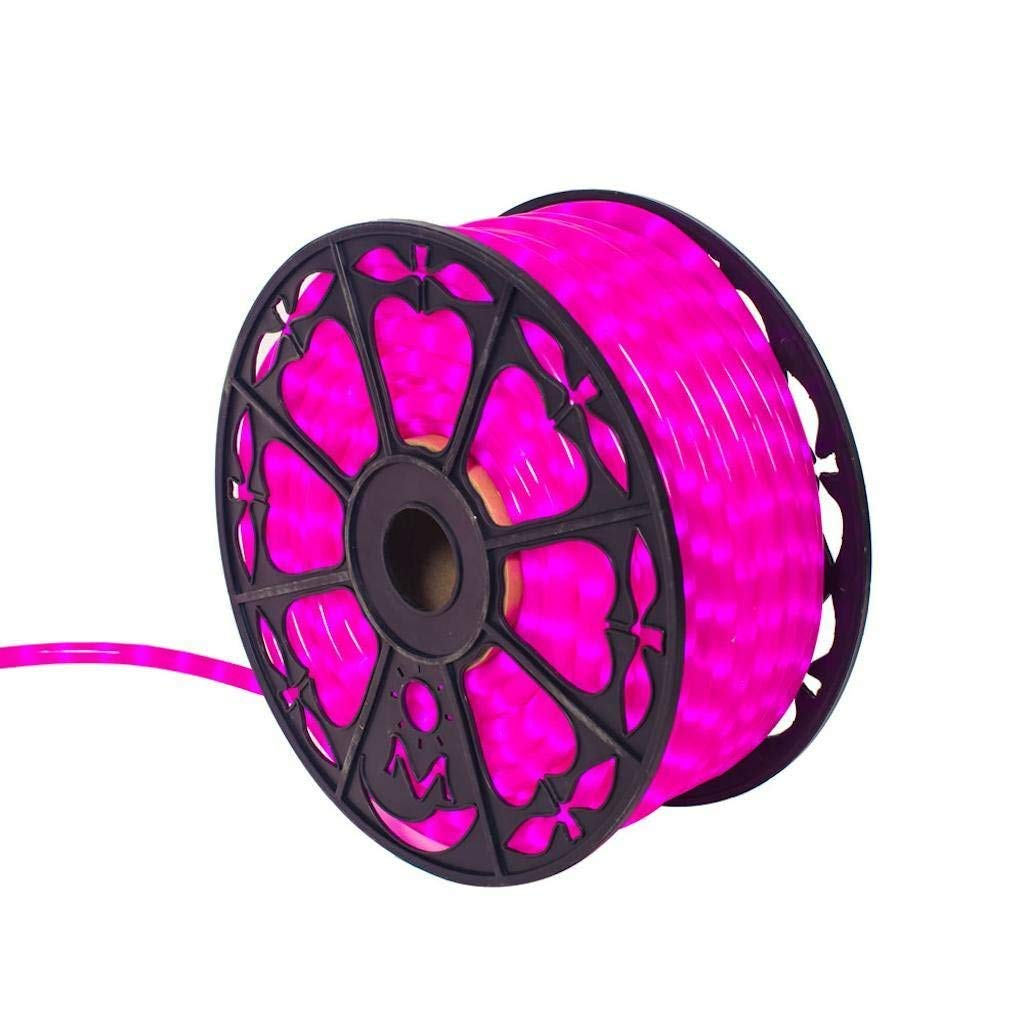 "Vickerman 521434-150' x .5"" Fluorescent Pink LED Rope Light"