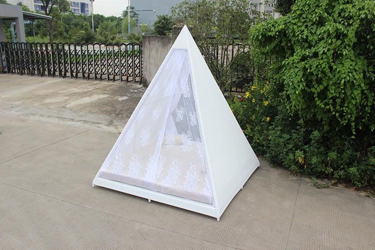 thuis rotan meubelen piramide vorm slaapkamer wit mesh bed