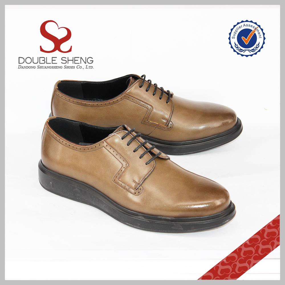 shoes Top plain quality brown microfiber leather lace men imitation derby xxzrw5Up
