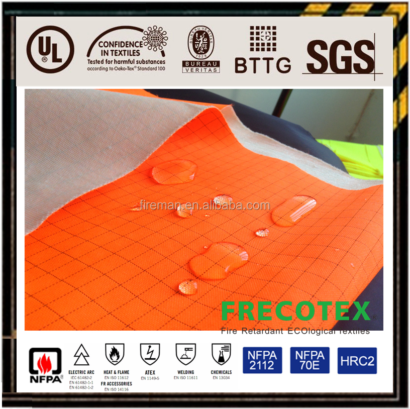 fireproof waterproof fabric for safety clothing/garments