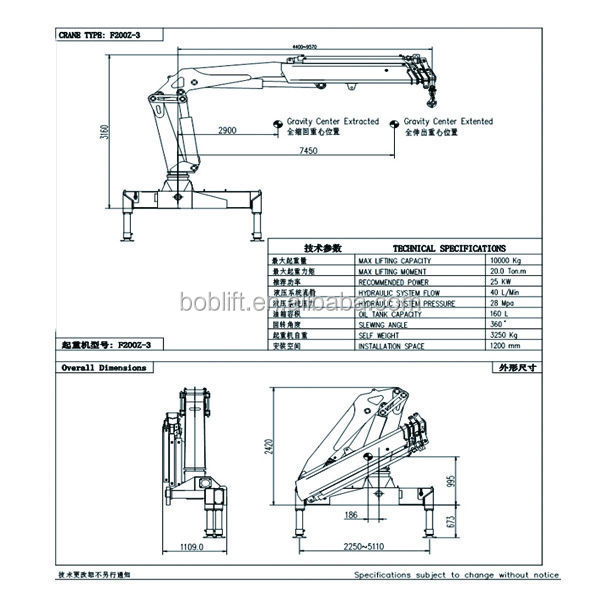94 Boom Truck Drawing Portable Electric Mobile Crane