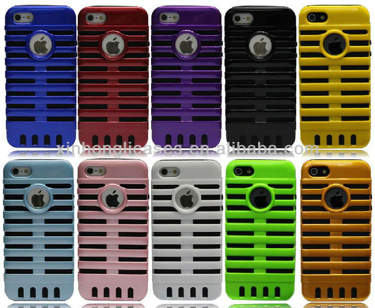 For iPhone 5 microphone case, rubber case hard cover for iPhone 5