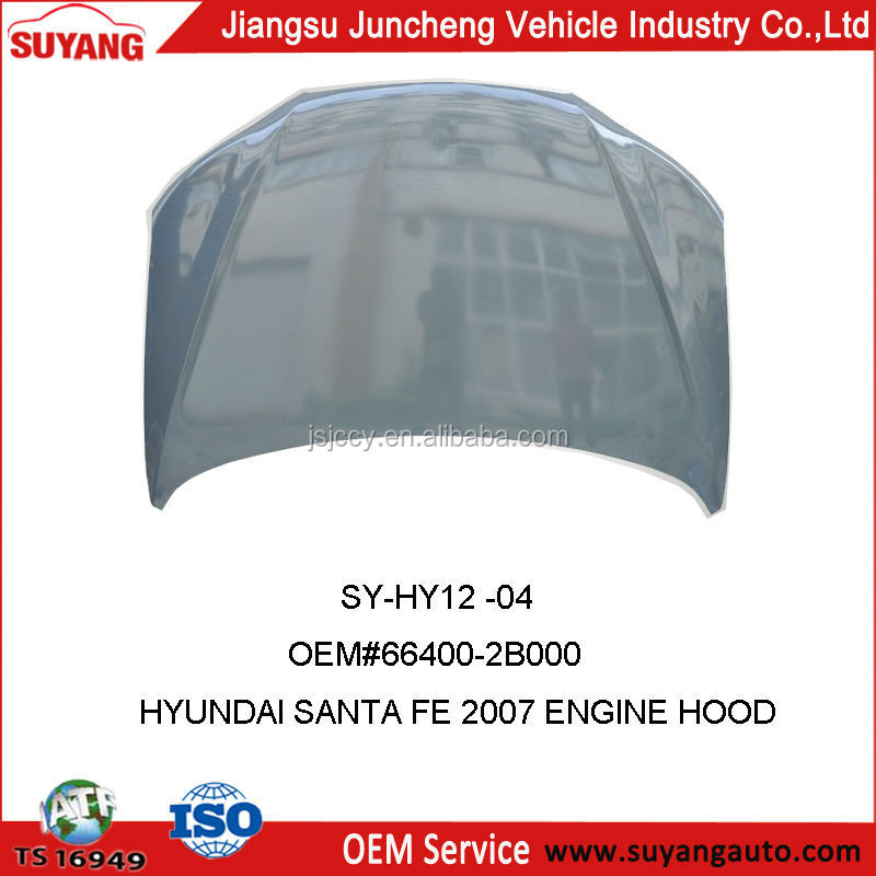 2007 Hyundai Santa Fe Replacement Auto Engine Hood For Body Parts 66400-2B000