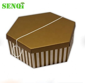 hexagon shaped corrugated cardboard hat boxes for hats for sale