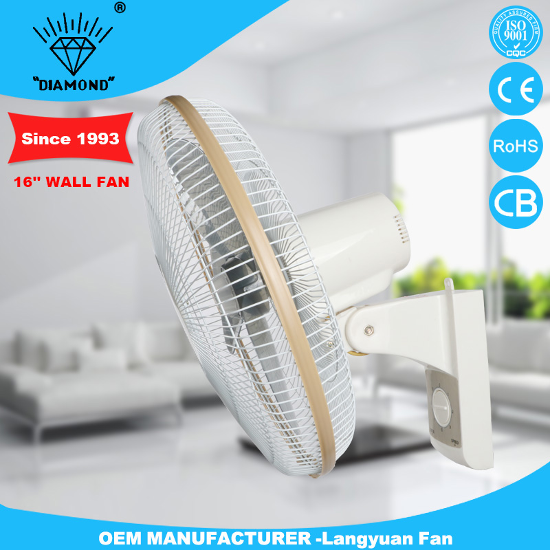 white tilting angle wall mounted fan with high quality