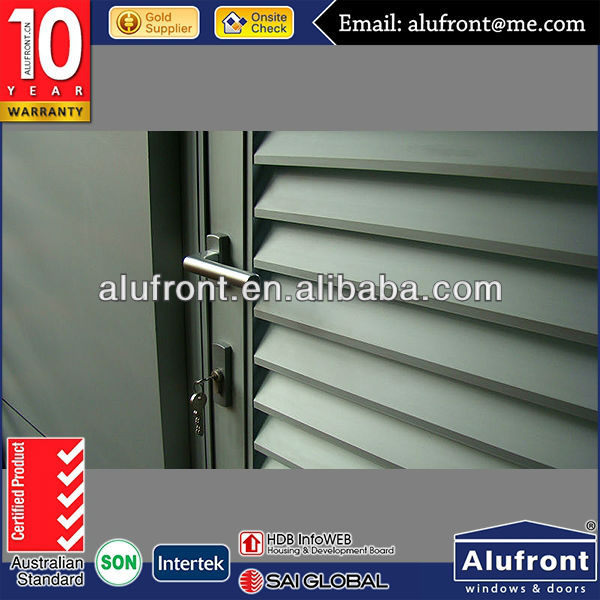Swing Door Aluminum Louver Window With High Quality Hardware
