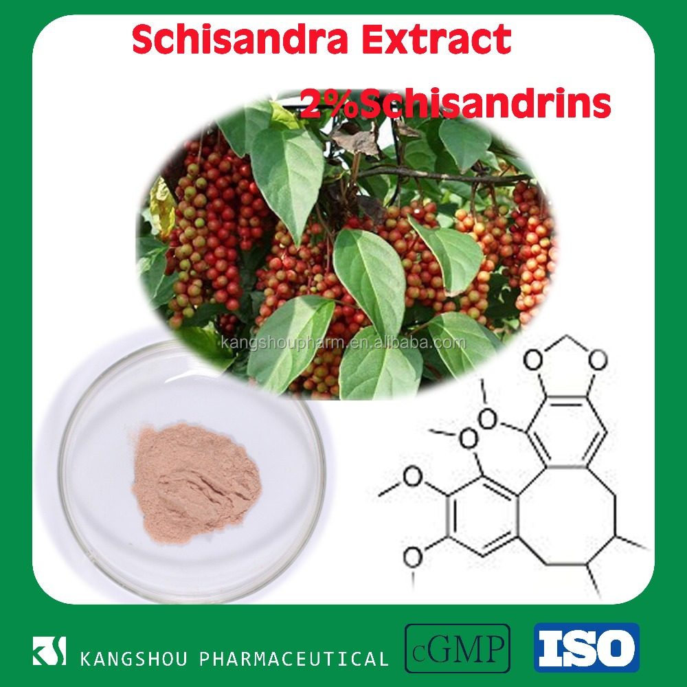 GMP Factory supply High quality Organic Schisandra chinensis extract Powder with 1%-9% Schisandrins