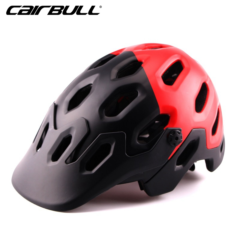 CAIRBULL 2017 New Super Design All Mountain Bike Helmet With Extended Rear Protection MTB Cycling Helmet Overbrow Ventilation