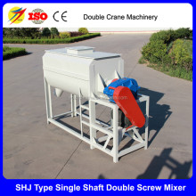 Electric horizontal type poultry ribbon feed mixer