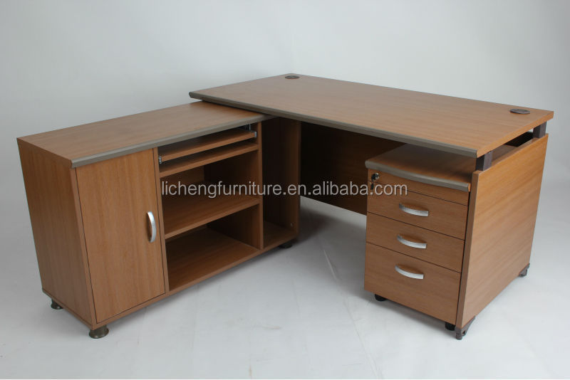 Korean Design Executive Office Table Design With File Cabinets ...