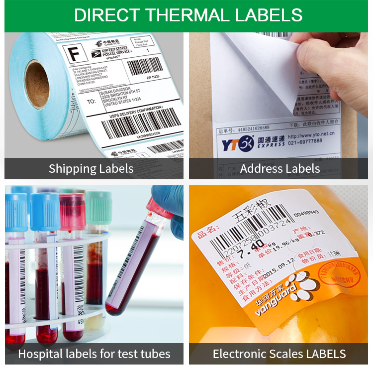 Direct thermal labels sticker 30252 dymo compatibel label