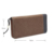 China direct manufacture high quality custom canvas wallet long pattern zipper men wallet