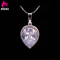 New deign pear shape big stone pendant jewelry simple gold pendant design