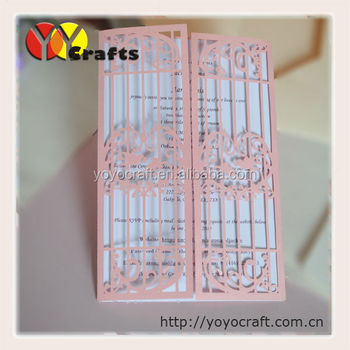 Custom Design Handmade Wedding Cards Unique Paper Cheap Invitation