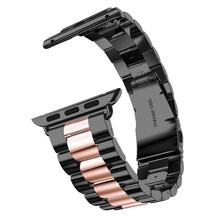 Металлический ремешок для Apple Watch band браслет из нержавеющей стали iWatch ремешок 42 мм 38 мм Роскошные correas Apple watch 4 44 мм 40 мм 3 2 1 42(Китай)