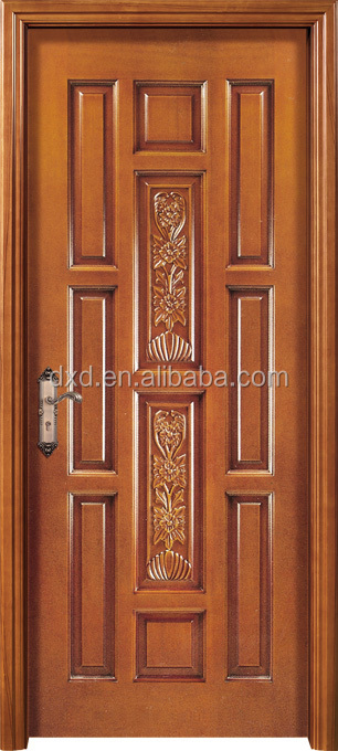 Solid teak wood main door design teak wood carve door for Main door panel design