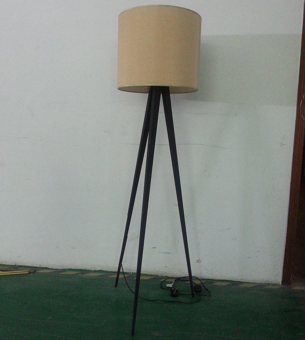 Modern Living Room Tripod Floor Lamp Wood 3 Legs,Standing Floor ...