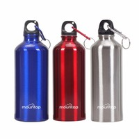 Best seller 2019 promotional sports cheap aluminum personalized shaker bottles with custom logo