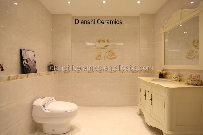 Glazed Porcelain Wall And Floor Tile Ceramic Bathroom Wall Tile To