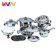16PCS New fashion swiss line prestige non stick camping cookware set