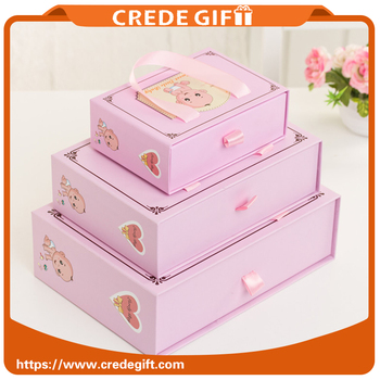 2017 China Factory Best Selling Cute Cheap Return Box Birthday Gift Kids