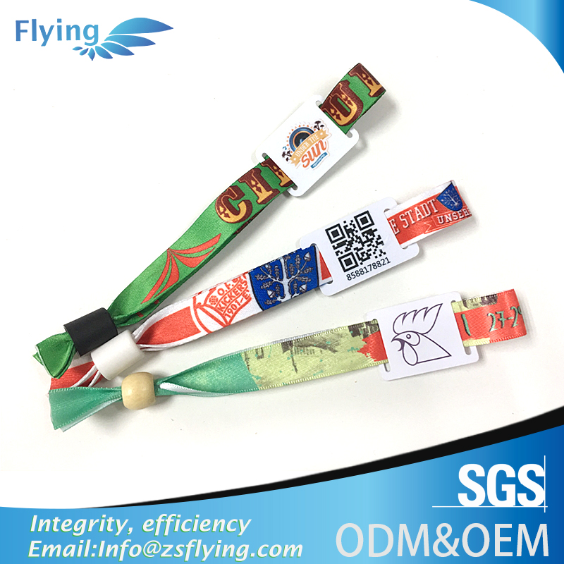 Promotional price custom made sport party event fabric wristbands