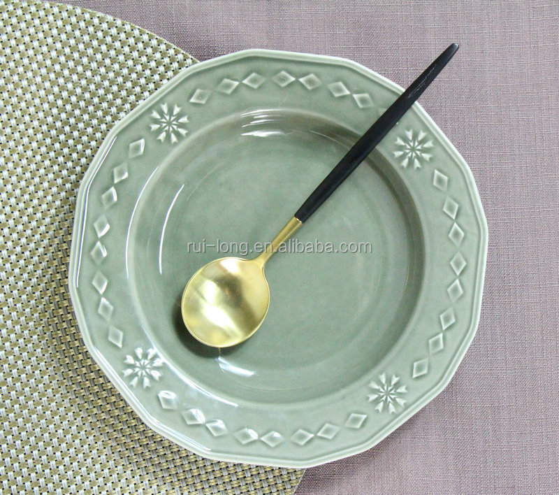wholesale tableware ceramic glazed ceramic soup <strong>plate</strong>