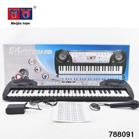 Multifunctional 54 keys digital musical electronic instrument keyboard for kids