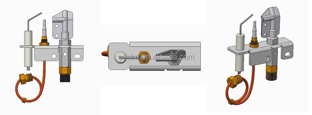 B880302 Quality Gas Fireplace Parts Ods Pilot Burner - Buy Ods ...