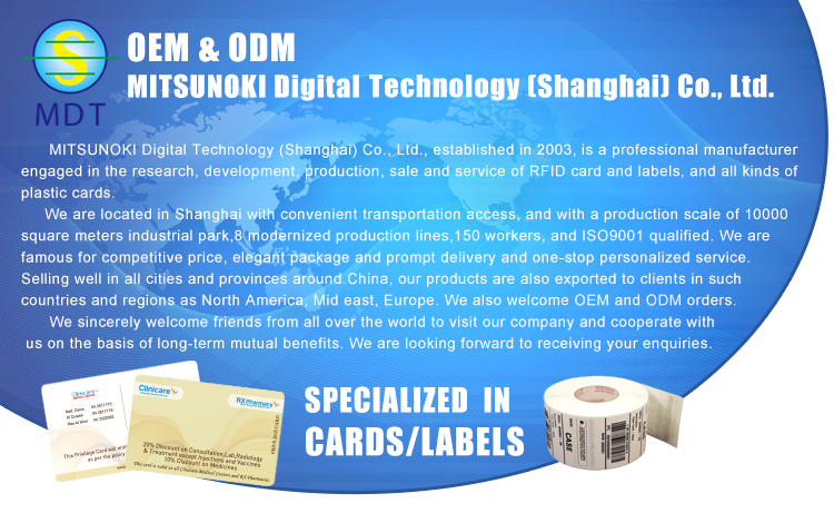 MDT hot sale Transparent business cards printing