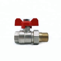 Junxiang good quality male& Female thread butterfly handle ball valve