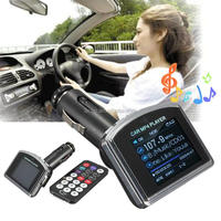 "High Quality Convenient Universal Car 1.8"" LCD Kit MP3 MP4 Player Wireless FM Transmitter Modulator USB For SD MMC With Remote"