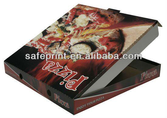 18 بوصة مخصصة كرافت ورقة صندوق للبيتزا مع شعار