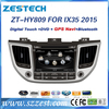 car parts auto radio multimedia car entertainment system for Hyundai Tucson 2016 car dvd player gps navigation with 3G BT