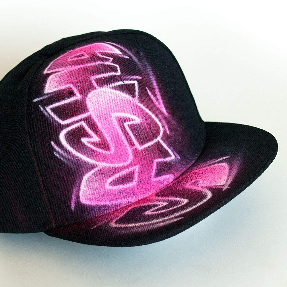 0dfbf56330a Get Quotations · Pink graffiti custom name snapback hat