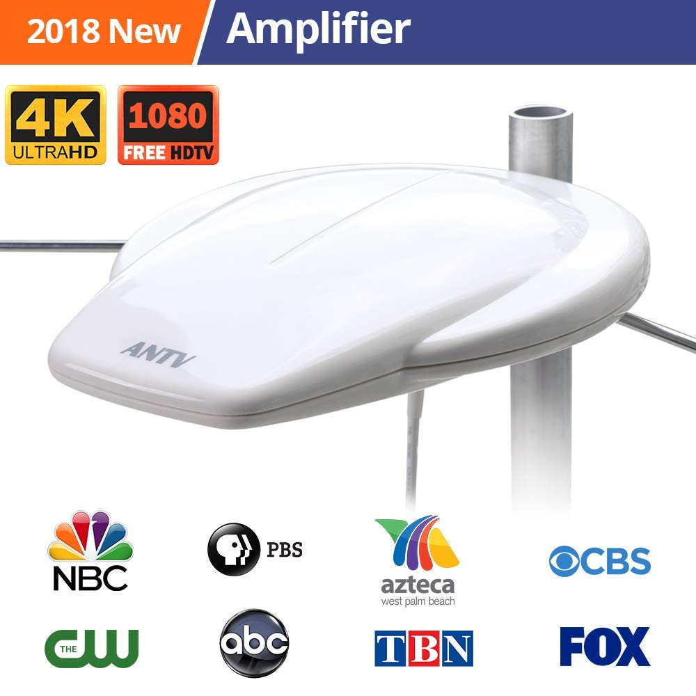 Tryace Outdoor HDTV Antenna 150 Miles Omni-Directional Reception with Amplifier