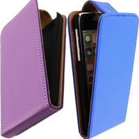 Big sale!!! high quality top open flip case leather case for iphone 4/4s