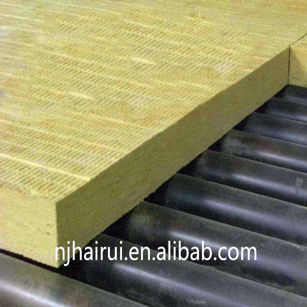 High density fireproof insulation rock wool board panel for Fireproof wall insulation