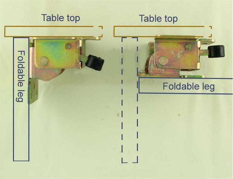 Table de salle manger ensemble pliage verrouillage - Herrajes para mesas plegables ...