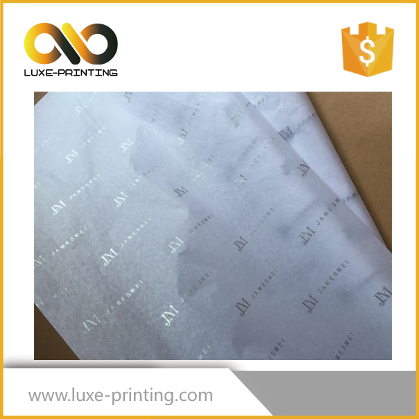 2016 Best seller produce silk <strong>paper</strong> with silver foil logo hot sale