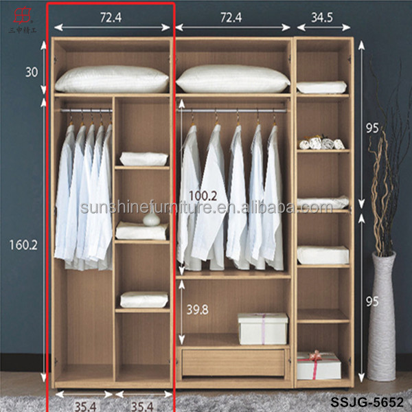 Cheap modern wood wardrobe bedroom closets