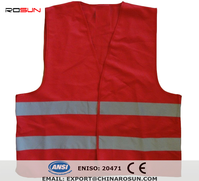 Kids Safety Vests children reflective vest Red color hi vis CE,EN471,CLASS 2 high visibility vest